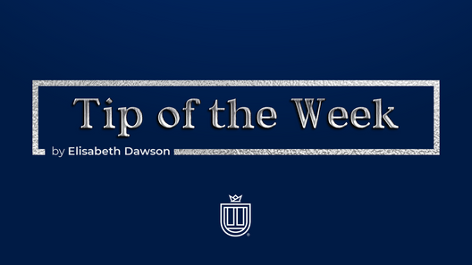 Tip of the Week by Elisabeth Dawson