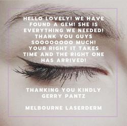 Melbourne Laserderm Testimonial