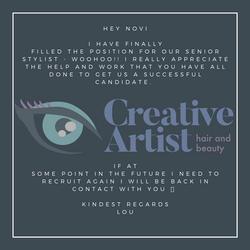 Creative Artist Testimonial
