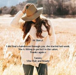 Vibe Hair & Beauty Testimonial