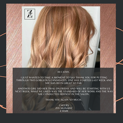 Z Hair Testimonial