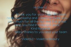 Violetta Beauty Testimonial