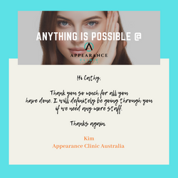 Apperance Clinic Australia Testimonial
