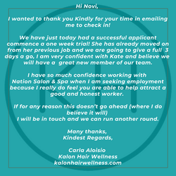 Kalon Hair testimonial