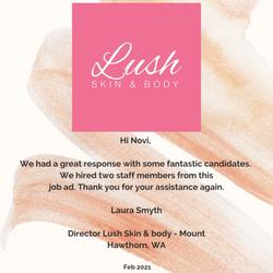 Lush Skin & Body Testimonial