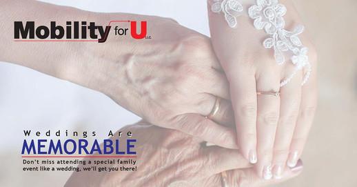 Mobility For U Wedding Ad