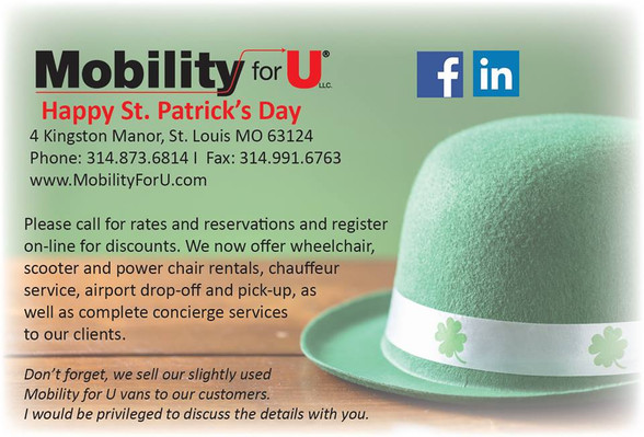 Mobility For U Ad - St. Patrick's Day