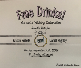 Save The Date Invitation Dan & Kristin Highley