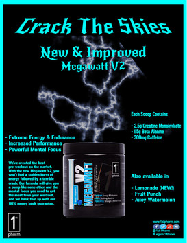 1st Phorm Print Ad - Megawatt V2