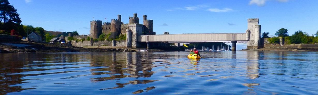 Conwy Castle Packraft Adventure Mountains to Sea Snowdonia Tirio