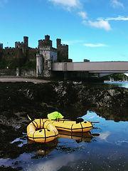 Conwy castle packraft Adventure mountain to sea north wales Tirio