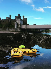 Conwy castle packraft Adventure mountain to sea north wales Tirio