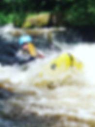 Packraft Moving water course Tirio