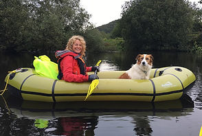 Kate Humble and Teg go Packrafting with