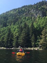 packraft adventure snowdonia walk paddle go woodland lake Tirio