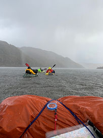 Packraft Exped Paddler navigation