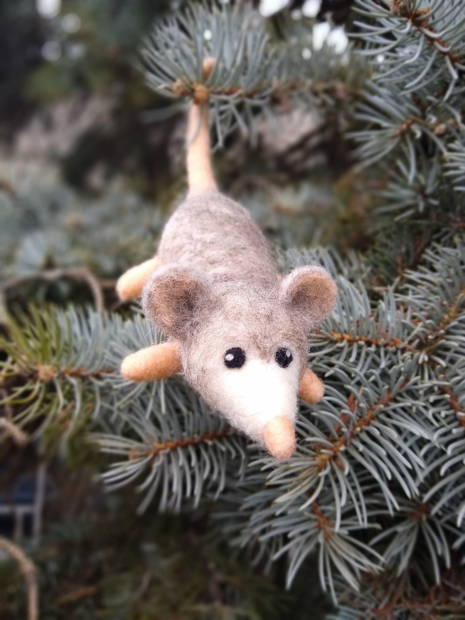 Needle Felted Baby Possum