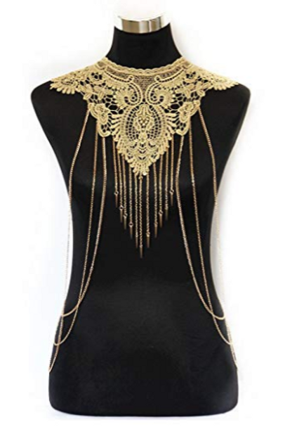 Vintage Lace Vest Necklace