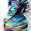 Thumbnail: Deity Rainbow Splash Button Dress