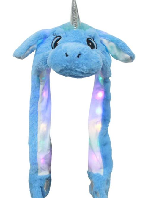 Led lit Unicorn Move-able Ears Hat