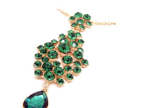 Emerald Gems Hair Jewelry