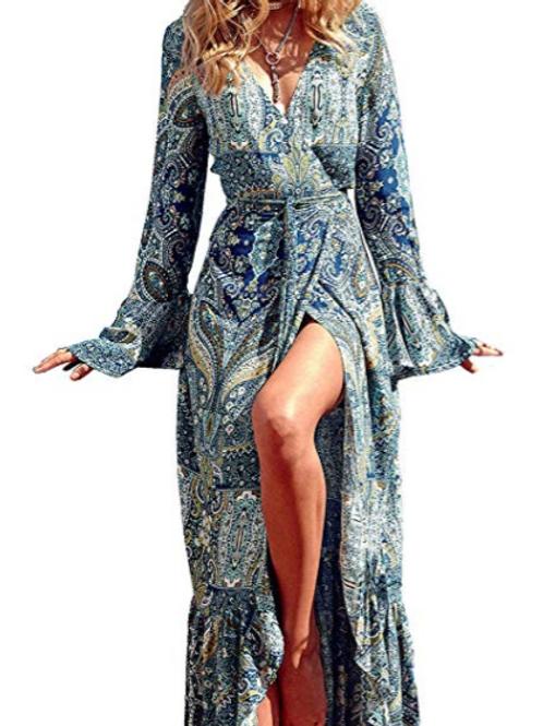 Galaxy Wrap Dress