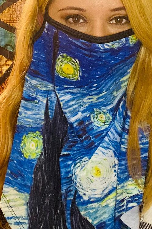 Van Gogh Fashion Art Print Face Mask