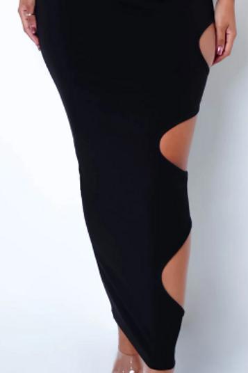 Swirl Cutout Maxi Skirt