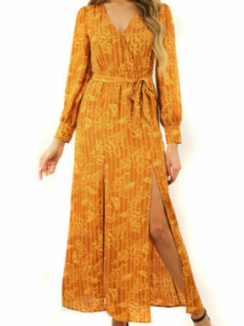 Golden Girl Floral Dress