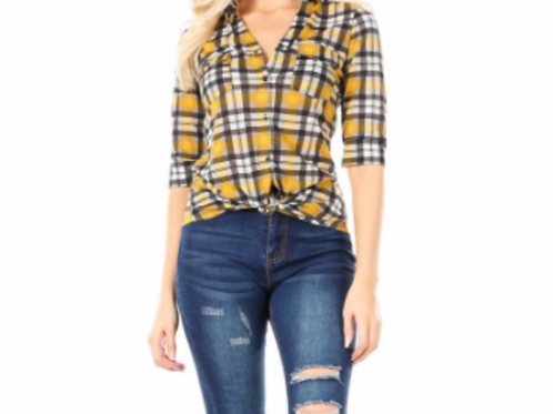 Canary Checkers Blouse