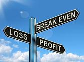 loss-profit-or-break-even-signpost-showi