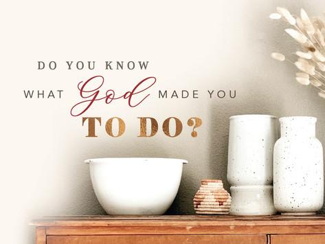 Do You Know What God Made You to Do?