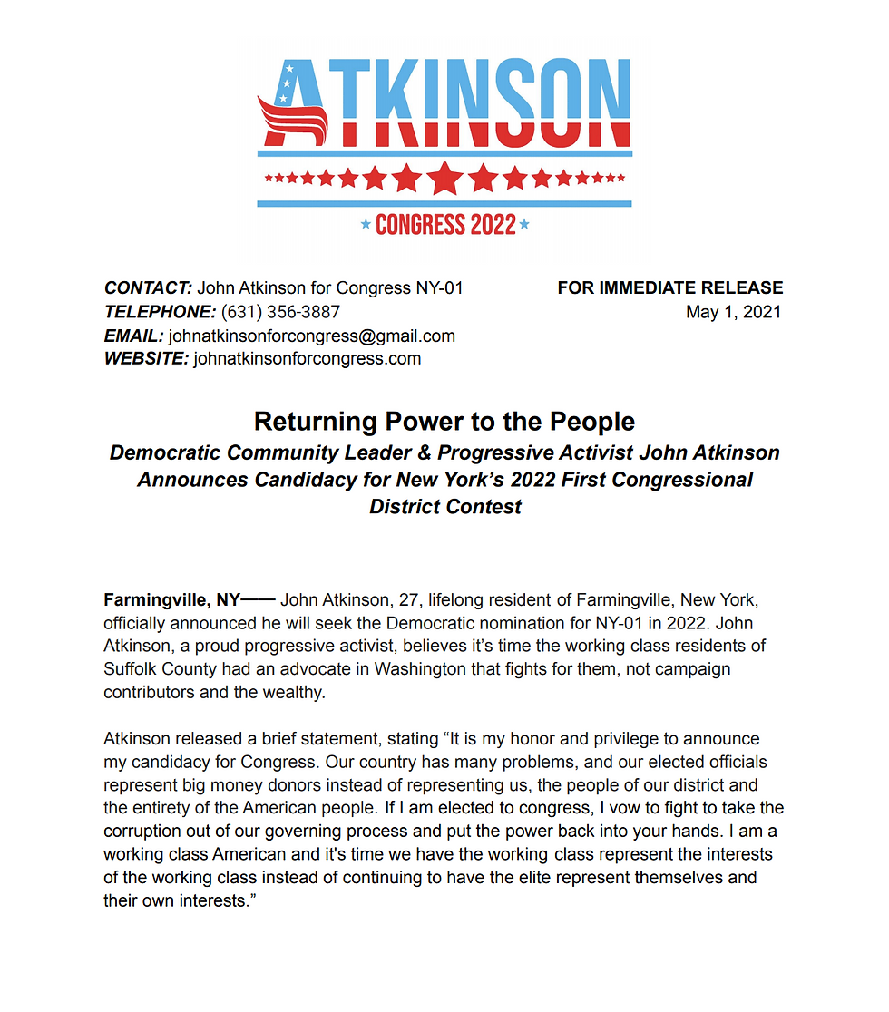 Announcement Press Release