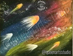 """Galaxy"" Canvas Painting (8x10) #painting #paintings #painted #painter #paints #painterslife #woman"