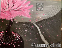 """Pink Fall Tree"" Canvas Painting (16x20) #painting #paintings #painted #painter #paints #painterslif"