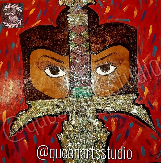 "For sale_ ""Lady Sword"" of the ""Shattered Collection"" #painting #paintings #painted #painter #paints"