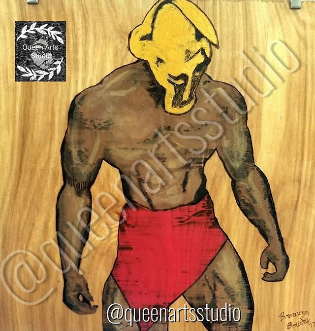 """Spartan"" Wood-burning (12x12) #painting #paintings #painted #painter #paints #painterslife #woman #"