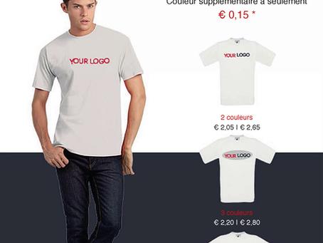 Vos T-shirts imprimés pour seulement 1,90€ !