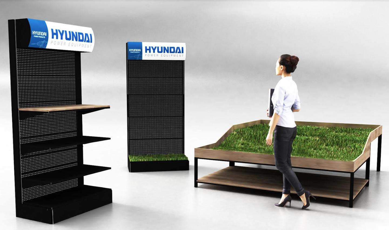 Meuble métal et bois Hyundai