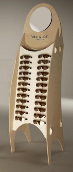 Présentoir lunettes bois