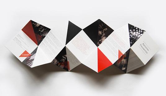 impression brochure origami