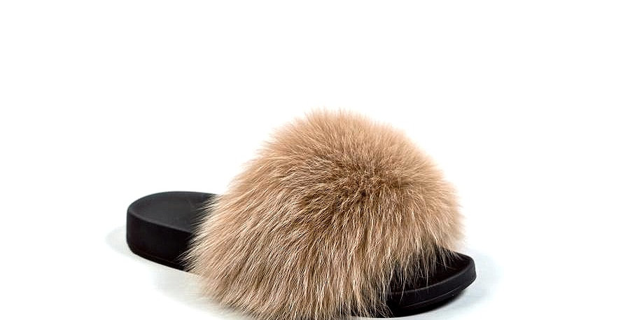 'Santa Fe' Fur Sliders