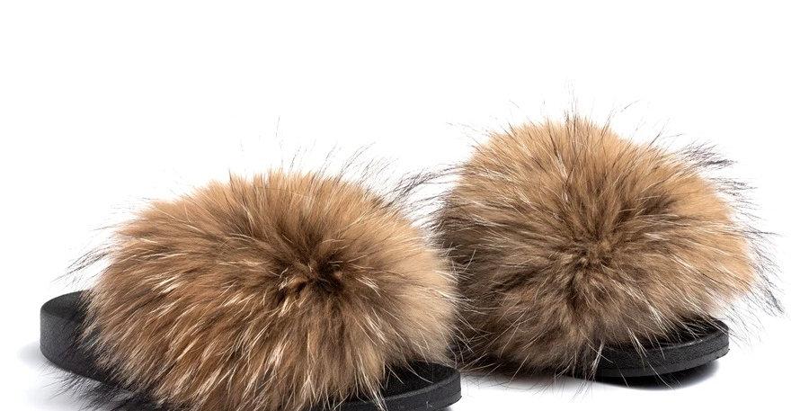 'Furget Me Not' Fur Sliders