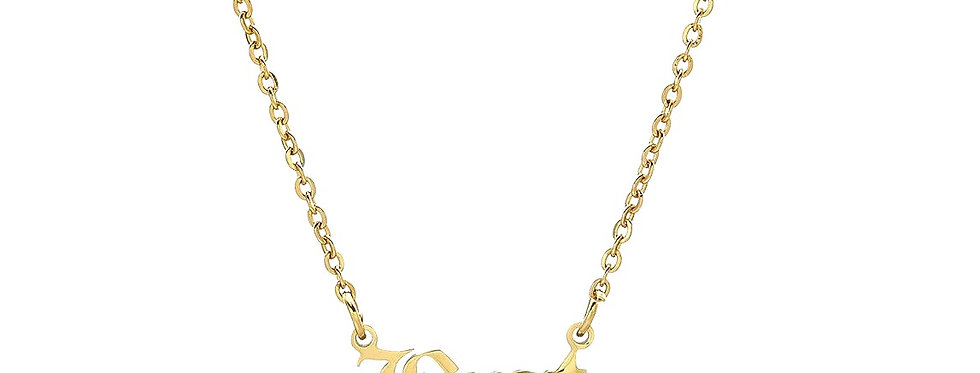 24K Gold Plated 'Brat' Pendant Necklace