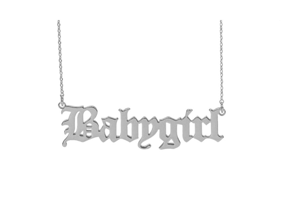 Silver 'Babygirl' Pendant Necklace