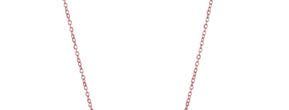 Rose Gold Plated 'Babygirl' Pendant Necklace