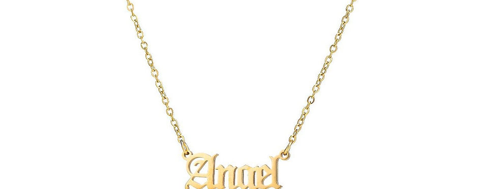24K Gold Plated 'Angel' Pendant Necklace