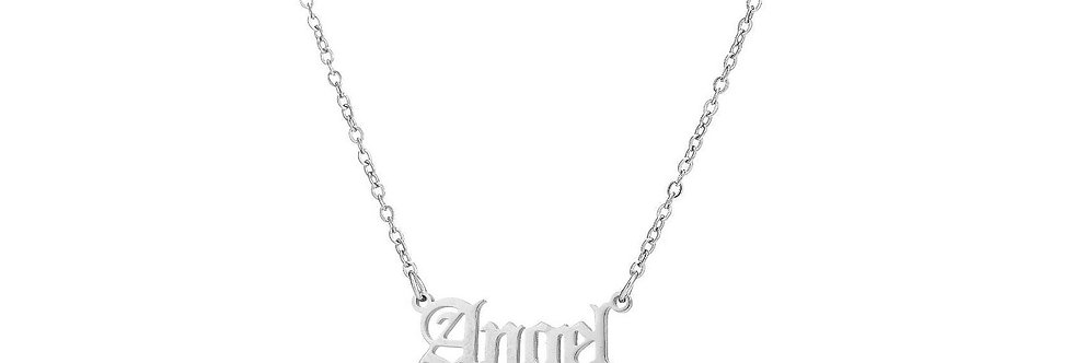 Silver Plated 'Angel' Pendant Necklace