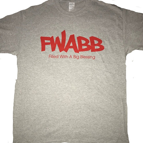 Gray+ Red Fwabb Tee