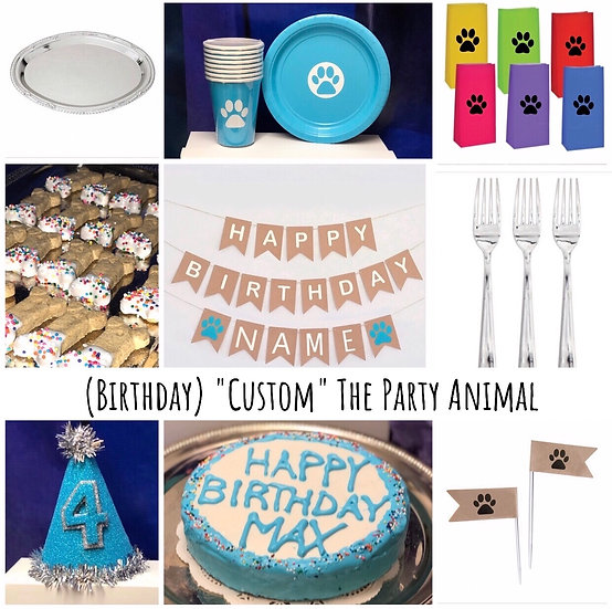 "(Birthday) ""Custom"" The Party Animal"